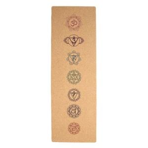 Full Color Yoga Mat Cork yoga mat made from 100% natural materials