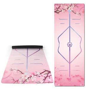 Premium Foldable suede rubber yoga mat 1