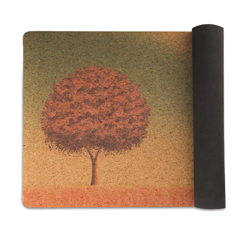 Customized Cork mat yoga mat made from 100% natural materials Featured Image