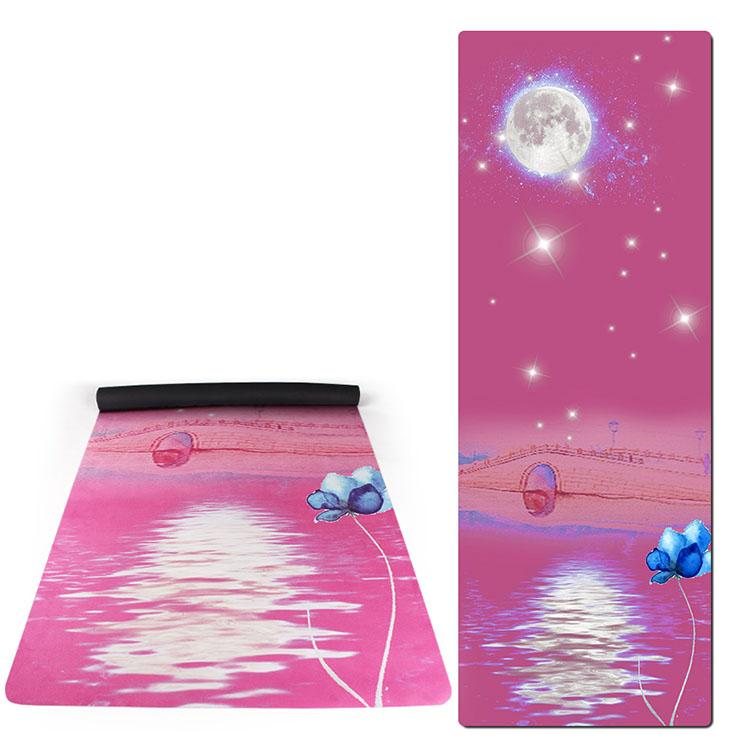 Eco Friendly suede rubber  yoga mat 4 Featured Image