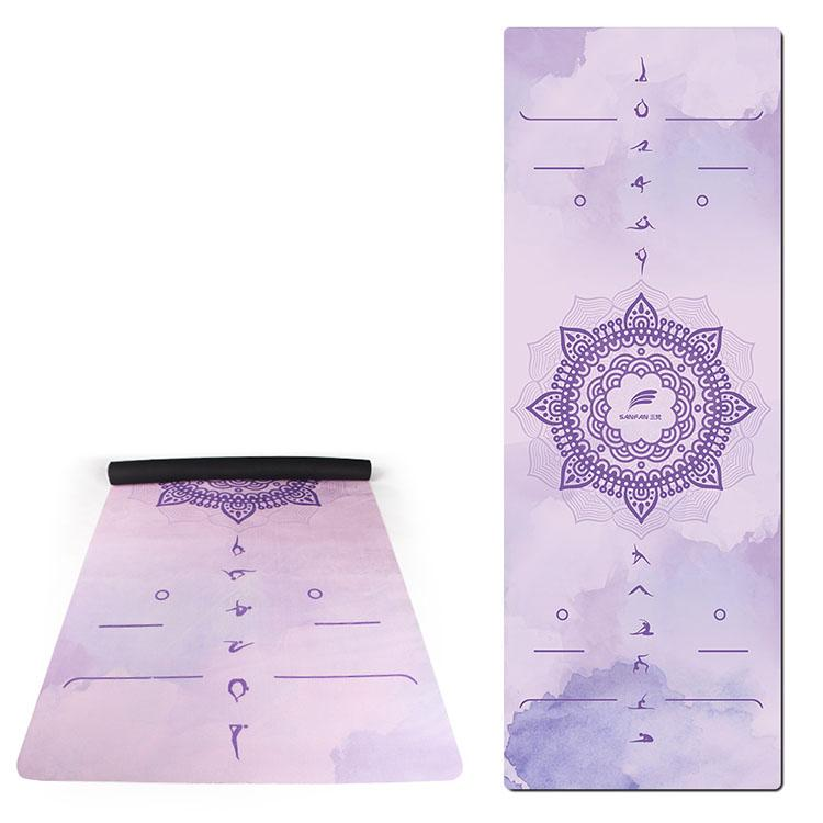 Gym suede rubber yoga mat 1 Featured Image