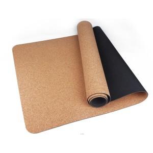 Cork rubber mat yoga mat made from 100% natural materials